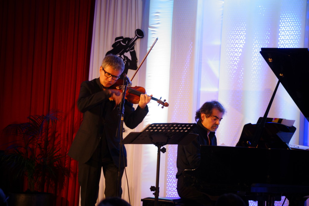 Giampaolo Nuti and Francesco D'Orazio live on stage