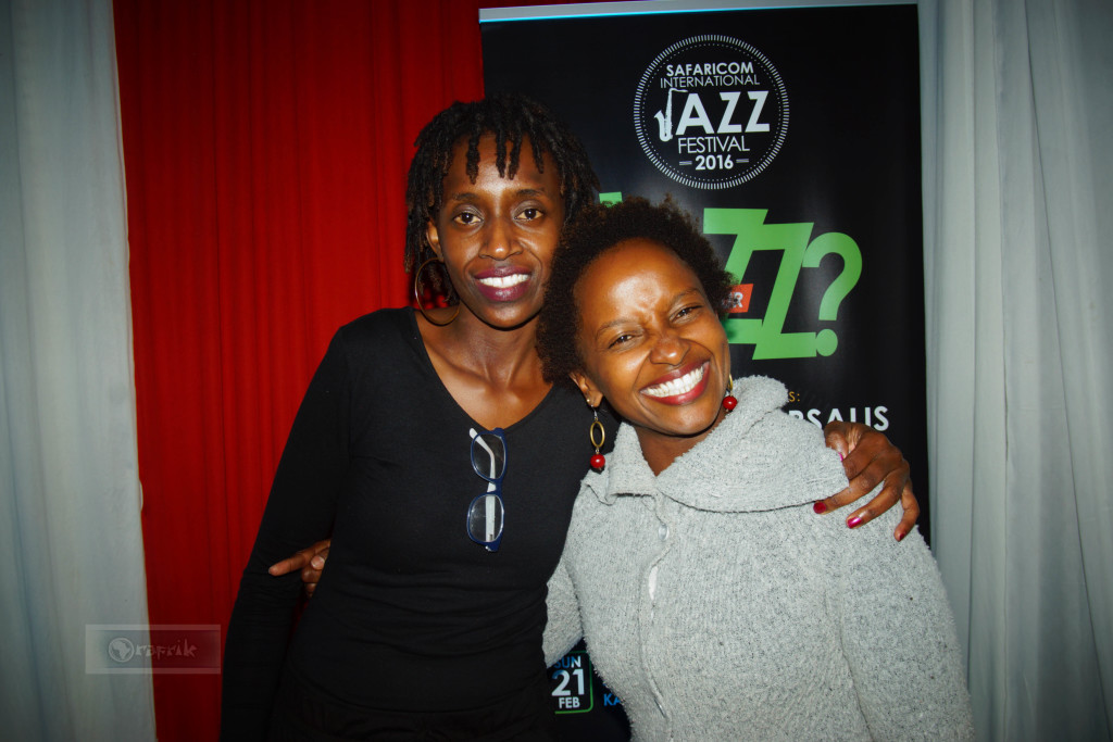 Christine Kamau and Kui in attendance
