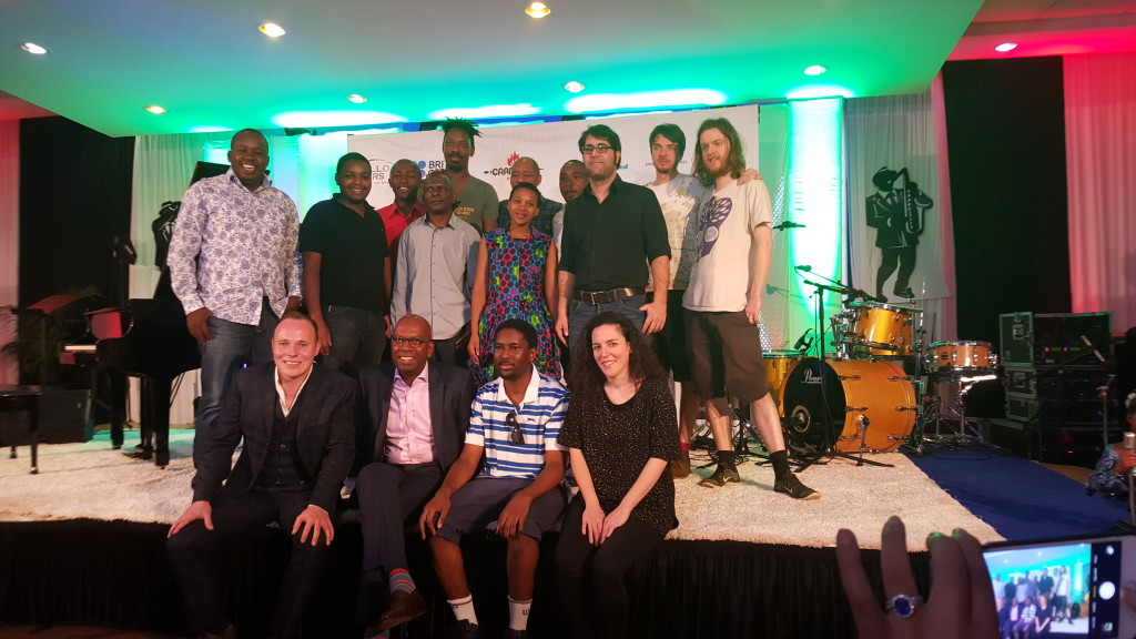 DJ D-lite with the all the Safaricom Jazz festival acts