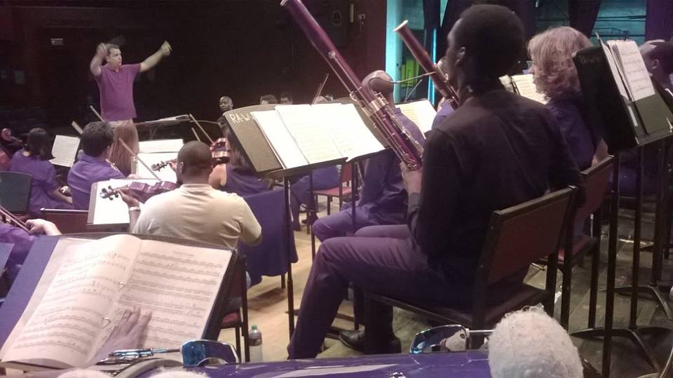 Members of the Nairobi Orchestra in action