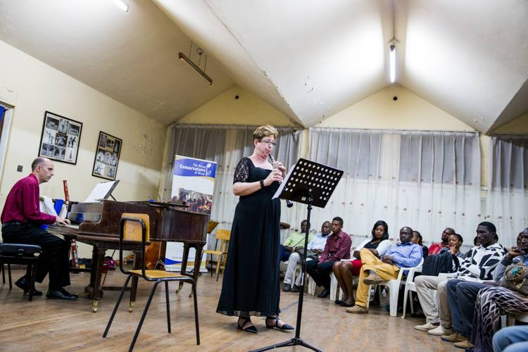 Lizzie during a concert recital in Nairobi, Kenya