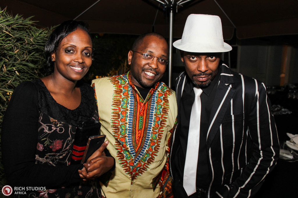 Orchestra's Conductor, Dancan Wambugu with friends