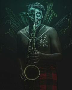 Mokua Rabai on Saxophone