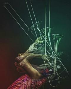Victor Kinama on Trombone