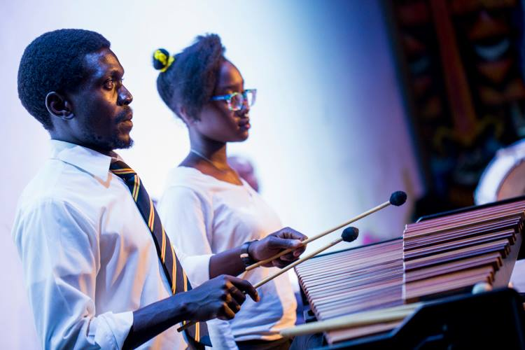 Benjamin Wamocho Musical arranger of Nyathi Onyuol  on the Xylophone