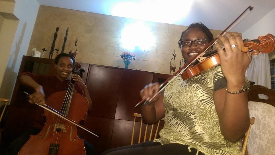 Papa Viola with Bernadette Muthoni