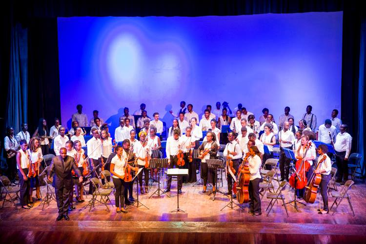 Members of Kenya National Youth Orchestra