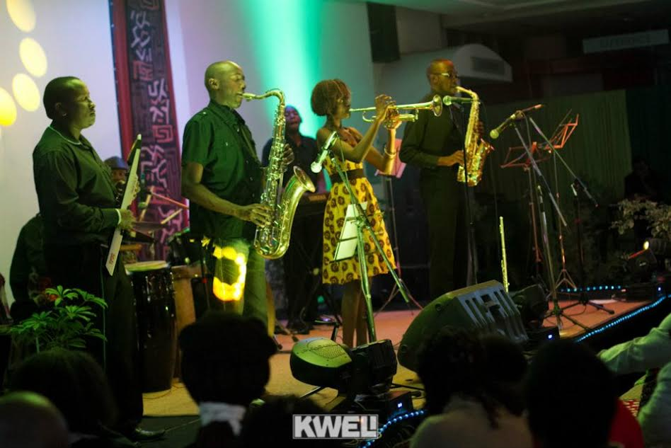 Tim Riungu performing alongside Christine Kamau
