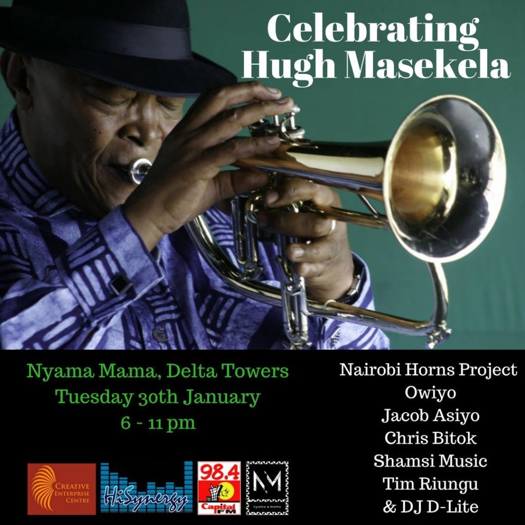 Hugh Masekela Tribute event poster