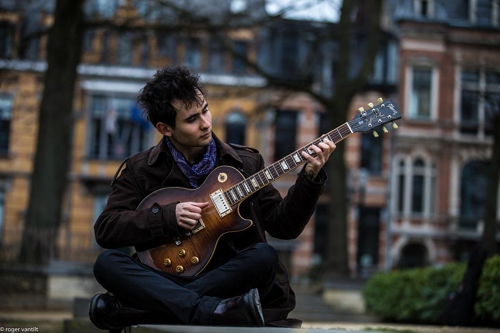 Matteo grooving on guitar