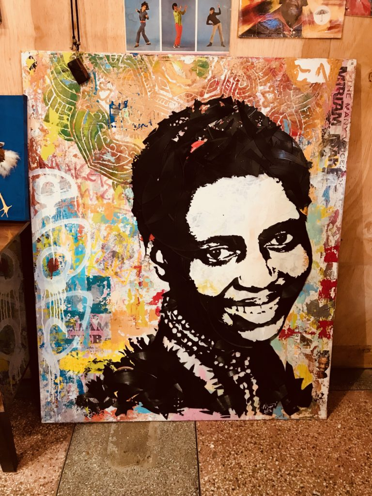 Vinyl Record Artwork of Miriam Makeba