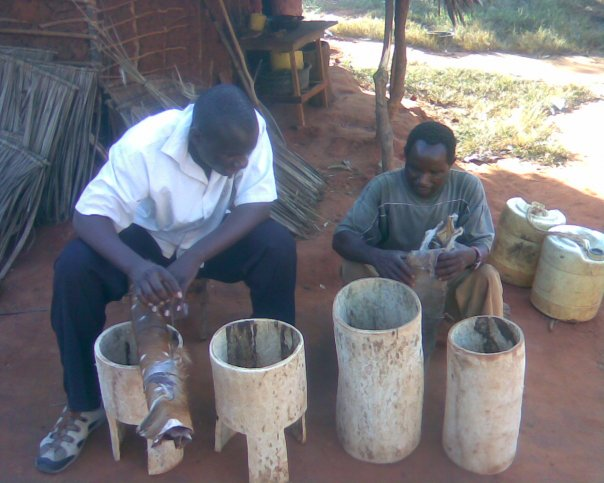 October 19, 2009. Visiting a drum smith deep in Kilifi making traditional drums.