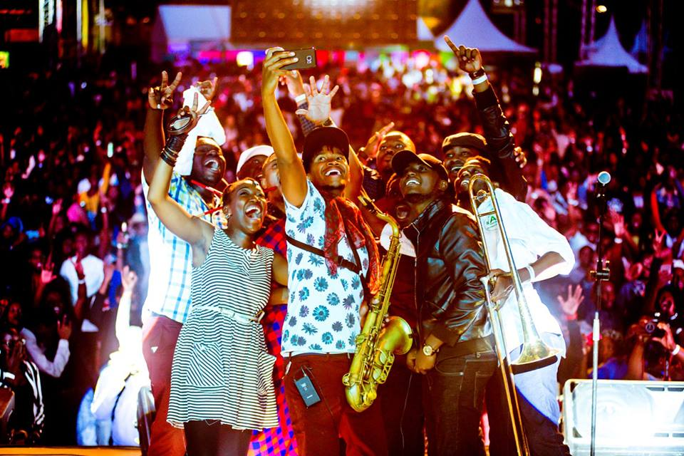 Nairobi Horns Project after their electrifying performance at Safaricom Jazz Day