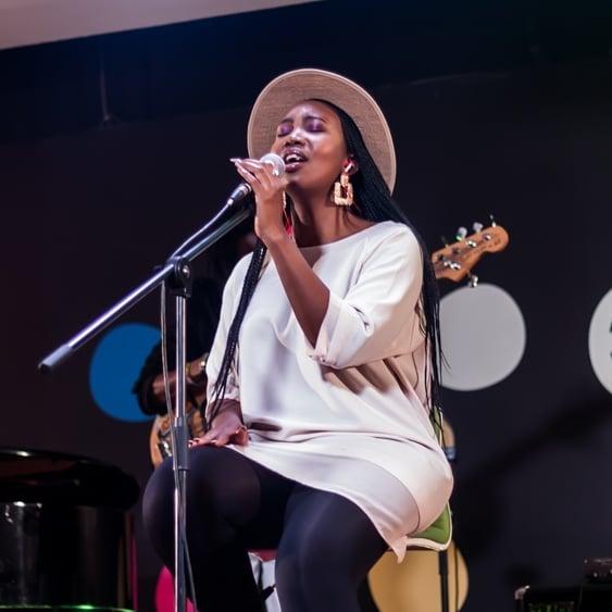 Sage singing at Engage 2020
